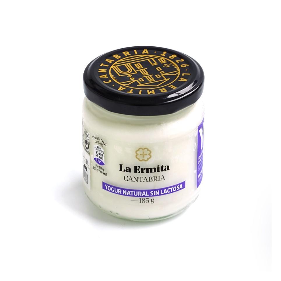 Yogur natural sin lactosa de 185 g